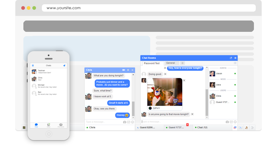 JQuery/PHP Chat Script Software, Facebook chat plugin for websites